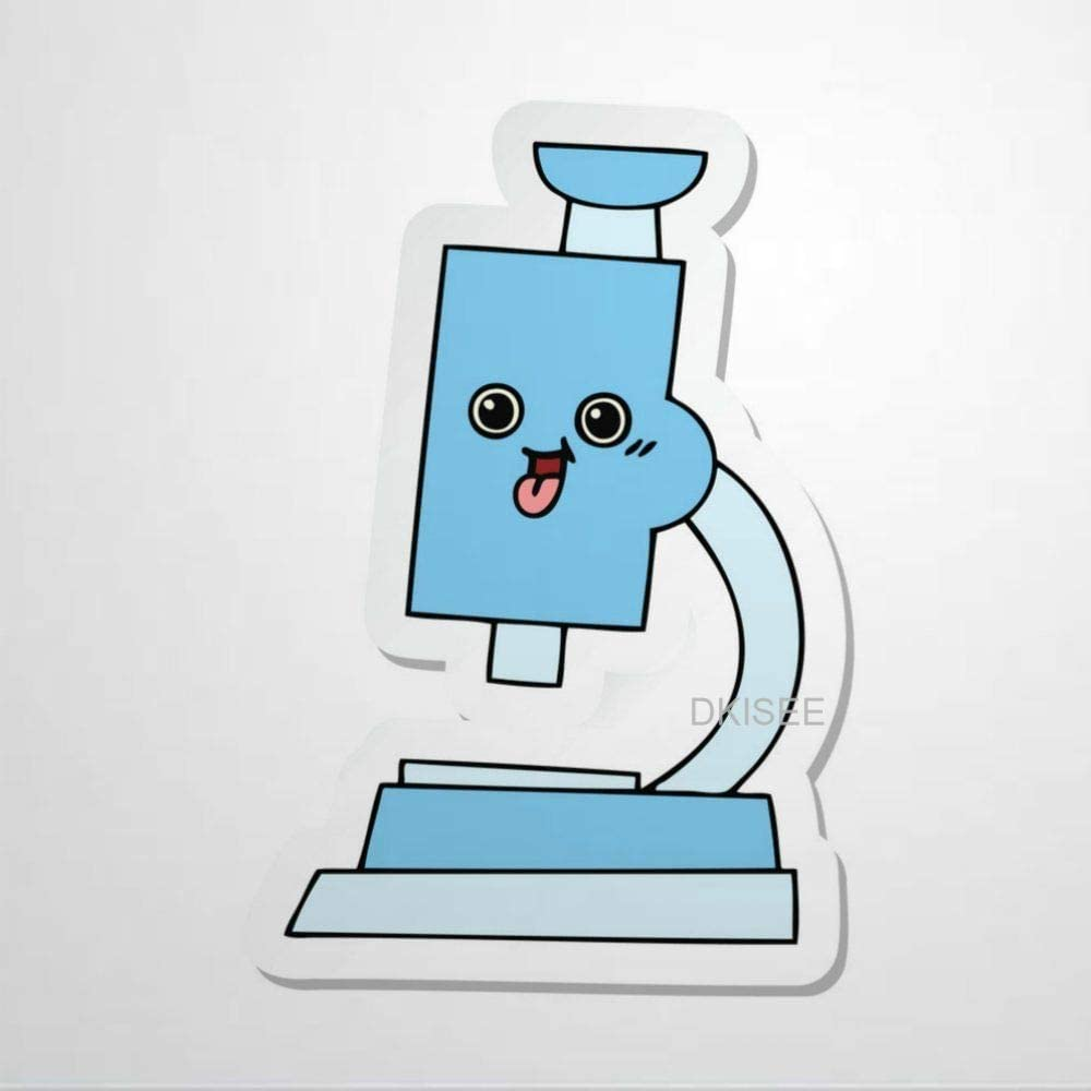 amazon com dkisee cute cartoon microscope sticker decal label trendy vinyl car sticker laptop sticker phonecase water bottles luggage decor 2 inch computers accessories amazon com