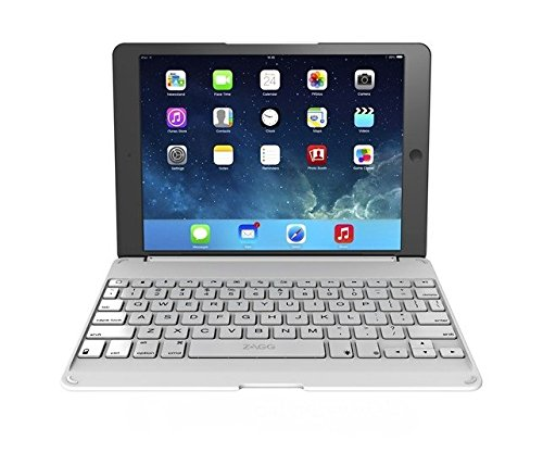 ZAGG Folio Hinged Case with non-Backlit Keyboard for Apple iPad Air - White