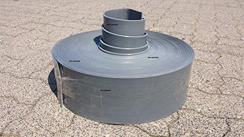 Rasenkante GRAU/DUNKELGRAU, Stärke: 4 mm, Höhe 10 cm (25 Meter 10 cm Höhe/4.71€ pro Meter)