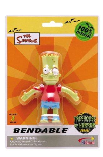 "The Simpsons Bart Simpson Zombie 4.5"" Bendable Figure"