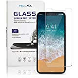 iPhone Xs/iPhone X Screen Protector Tempered Glass Ultra-Clear HD Protect Protect Gorilla Glass with Premium Anti-Shatter and Oleophobic Treatment from VELLALL