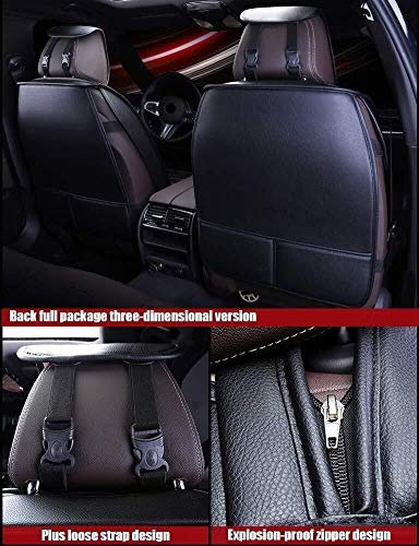 HL-TD Car Seat Cushions Full Set PU Front&Rear Seat Cover Anti-Slip Deluxe Automotive Cushions Seat Universal 5 Seats Cars Durable (Color : Red)