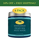Cheap (4 Pack) Dead Sea Mud Mask for Face and Body – 100% Natural Spa Quality – Perfect Pore Minimizer, Deep Skin Cleanser, Reduces Acne, Blackheads and Oiliness for a Tighter Skin and Healthier Complexion