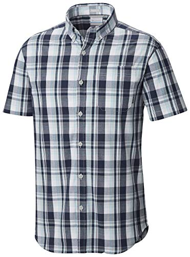 Columbia Men's Rapid Rivers II Short Sleeve Shirt, Cool Grey/Multi Plaid, XL ()