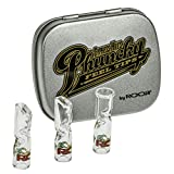 3 Glass Tips with Collectible Tin
