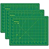 """WORKLION Self Healing Cutting Mat, Full 9"""" x 12"""", 5-Layers, Professional Cutting Board for Craft, Fabric, Quilting, Sewing, Scrap-Booking and Art Projects (3 Pack)"""