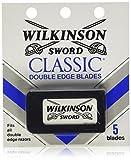 Schick Wilkinson Sword Double Edge Razor Blade Refills for Men - 5 Count  (Pack of 60)