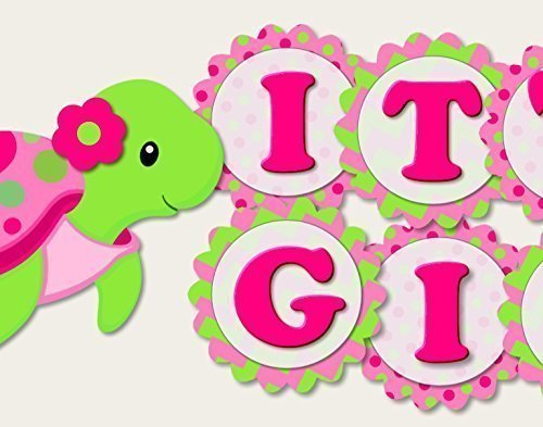 Turtle Baby Shower Decoration Supplies for Girl -