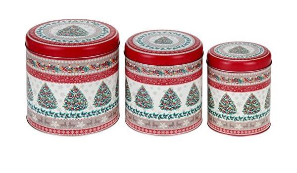 Wesko – Caja de lata para galletas Bote Metálico Juego de 3 ...