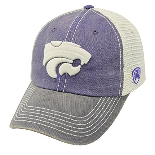 NCAA Kansas State Wildcats Offroad Snapback Mesh Back Adjustable Hat, One Size, Purple/Charcoal/Khaki (Cap Wildcats State)