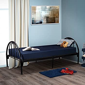 Image of Home and Kitchen Fortnight Bedding 6 Inch Foam Mattress with Blue Nylon Cover Made in USA (36x74x6)