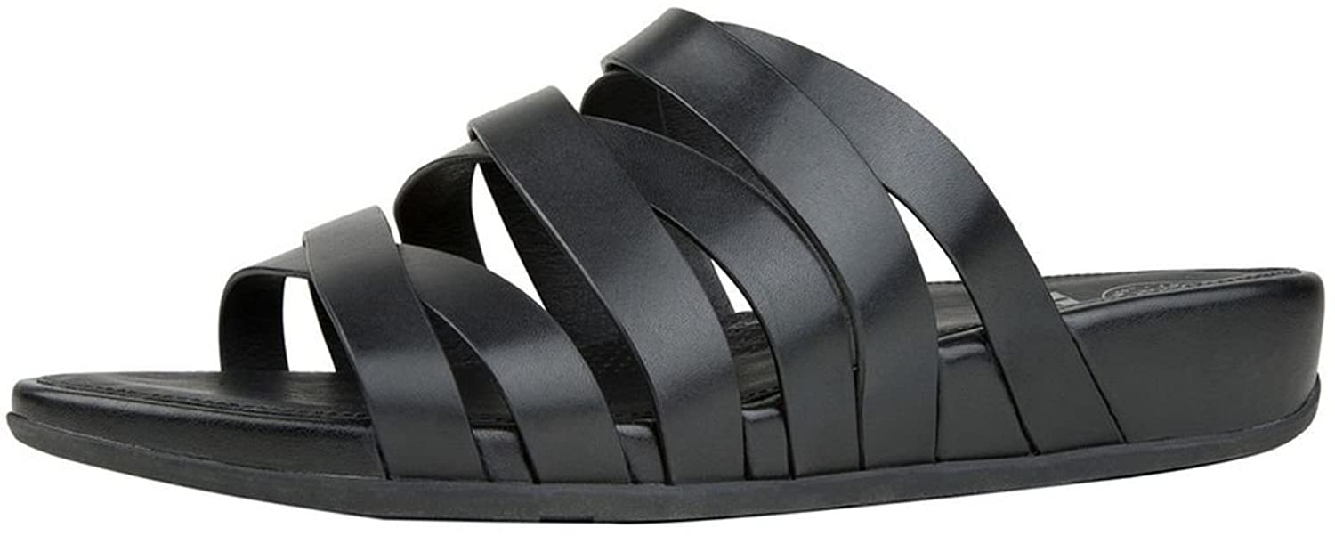 ac788210f FitFlop Women s Lumy Leather Criss-Cross Slide Sandals 50%OFF ...