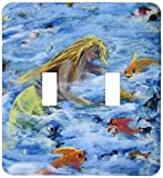 3dRose lsp_66356_2 Sea Angels, Mermaids Feed The Fish Light Switch Cover