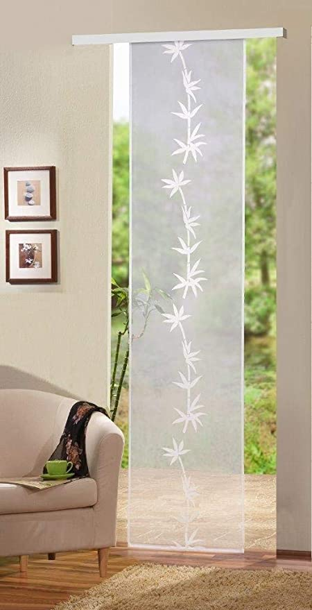 Home Fashion Puerta corredera, Tela, Blanco, 245 x 60 cm: Amazon.es: Hogar