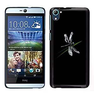Impact Case Cover with Art Pattern Designs FOR HTC Desire D826 Dragonfly Bug Art Grass Black Simple Flying Betty shop