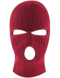 Knit Sew Outdoor Full Face Cover Thermal Ski Mask by