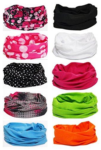 - Ussuperstar 10pcs Outdoor Wide Wicking Headbands Men Women Seamless Headwear Tube Bandana Face Mask Magic Scarf for Backpacking Running Yoga
