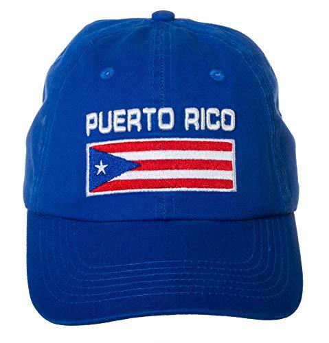 (Puerto Rico Flag Puerto Rican Pride Hat - 100% Cotton Embroidered Cap (Blue))