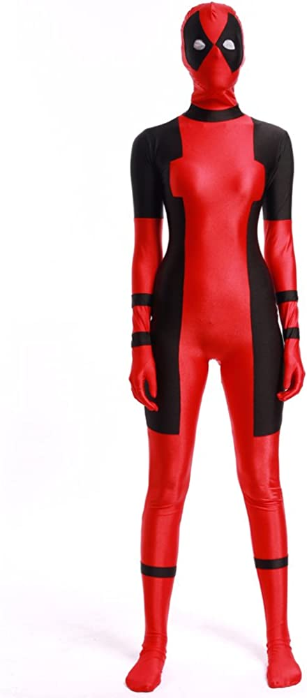 Amazon.com: ourworth Lady Deadpool Costume Girl Cosplay Suit ...