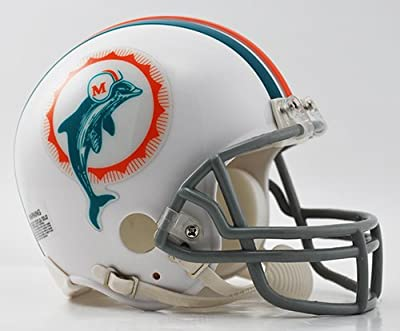 Miami Dolphins 1972 Throwback NFL Riddell Replica Mini Helmet