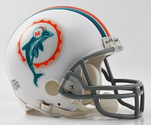 - Miami Dolphins 1972 Throwback Riddell Mini Football Helmet