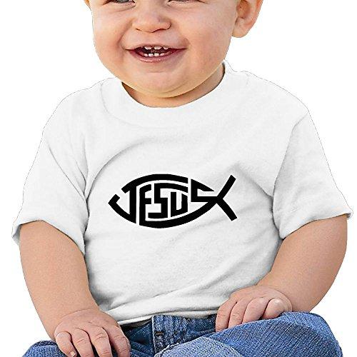 Cotton Tee Organic Fish - Quxueyuannan Jesus Christian Fish Washed Cotton Baby Boy Shirt Cute Summer T Shirt Funny