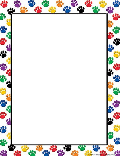 Teacher Created Resources Colorful Paw Prints Computer Paper (4769)]()