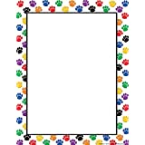 Teacher Created Resources Colorful Paw Prints Computer Paper