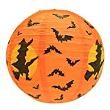 Funnygals - Tissue Paper Round Lanterns LampShade Lamp Shade for Halloween Party Home Decoration (40cm)