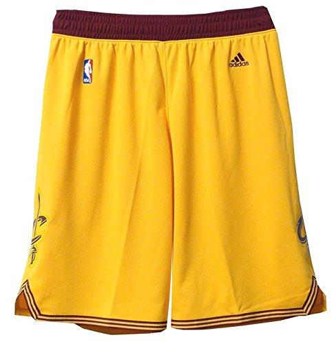 Cavaliers Swingman Shorts - Cleveland Cavaliers Adidas Gold Swingman Performance Shorts (XL)