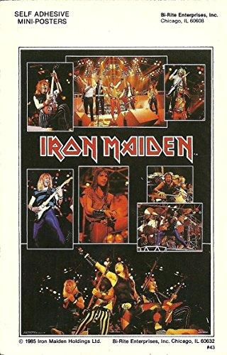 Iron Maiden 4x6 Live Collage Mini Poster Sticker Vintage 1985