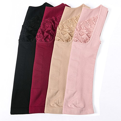 Comfortableinside - Camiseta moldeadora - para mujer Beige