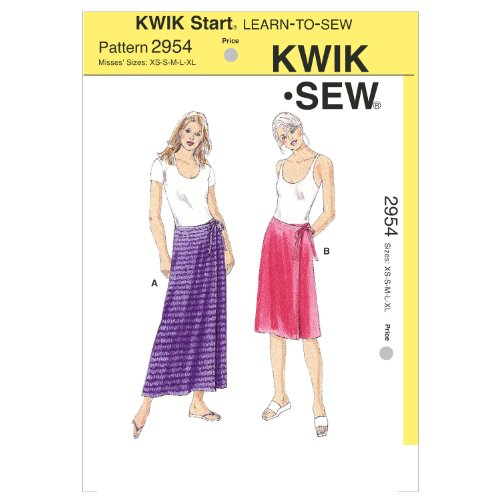 Kwik Sew K2954 Wrap Skirts Sewing Pattern, Size XS-S-M-L-XL by KWIK-SEW PATTERNS