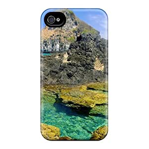 New Premium Lajonline Mineral Pool In Rocky Seacoast Skin Case Cover Excellent Fitted For Iphone 4/4s