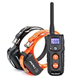 Petrainer 330 Yards Remote Training E-collar PET916 Rechargeable and Fully Waterproof Dog ...