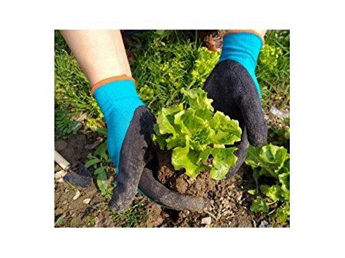 GYPO Manopla De Barbacoa Guantes de jardinería para excavar Weeding Sembrar Picos con Guantes de Hule de látex para Hombres y Mujeres (M) Guantes para Asar: ...