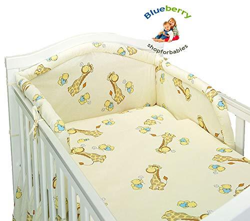 BlueberryShop 2 pcs Baby COT Bed Bundle Bedding Set Duvet+Pillow Covers 90 x 120 cm (35.5