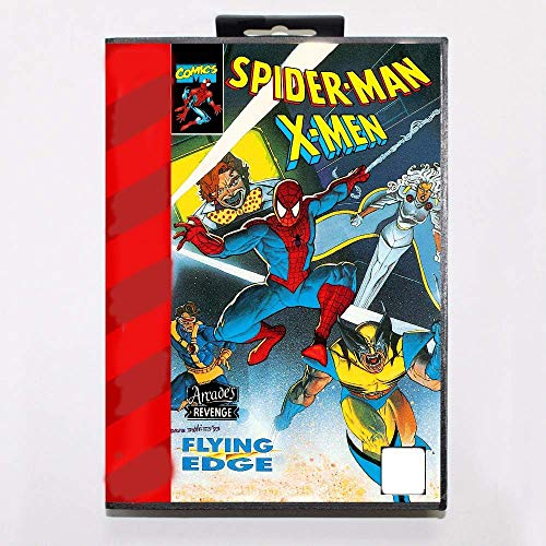 Sega Game Cartridges Spiderman X-Men Arcade's Revenge Game Cartridge 16 bit MD Game Card With Retail Box For Sega Mega - Cartridge Spider Game Man