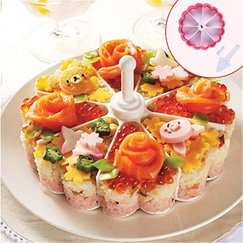 ZSL Rice Mold Onigiri Shaper Sweat-heart Shape Sushi Rice Cake Press Mold Maker