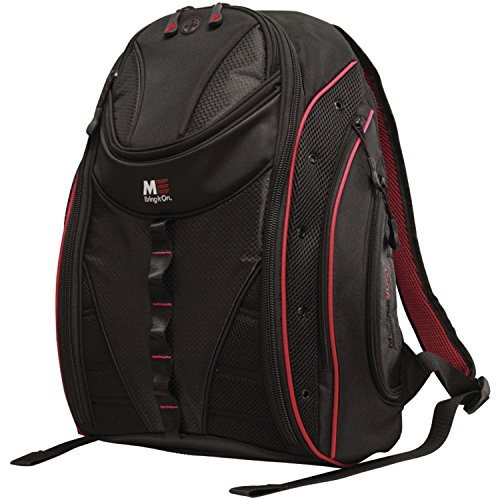 (Mobile Edge Black w/Red Trim Express Laptop Backpack 2.0 16 Inch PC, 17 Inch Mac for Men, Women, Students MEBP72)