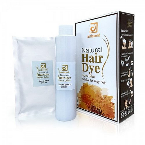 1 Pack of Artiscent Natural Hair Dry Brown Colour 170 Grams or 6 Oz.