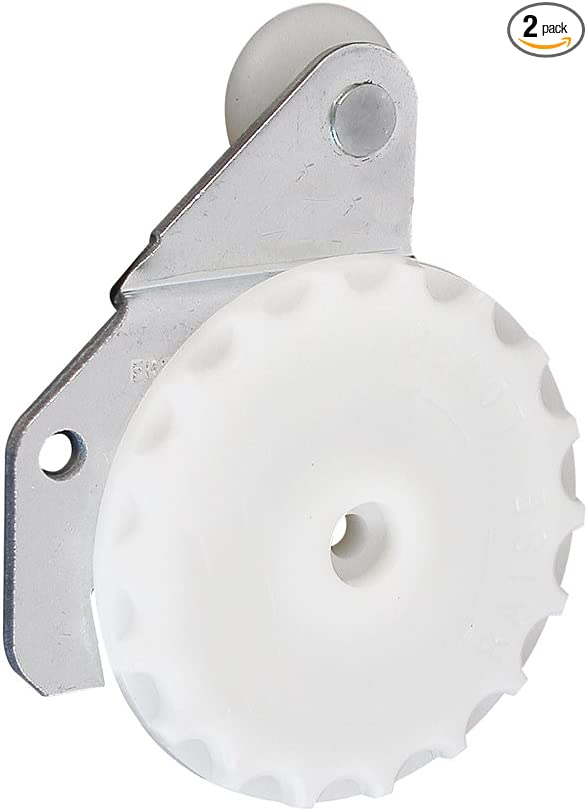 Slide-Co 163596 Closet Door Roller with 3//8-Inch Offset and 3//4-Inch Nylon Wheel, Pack of 2