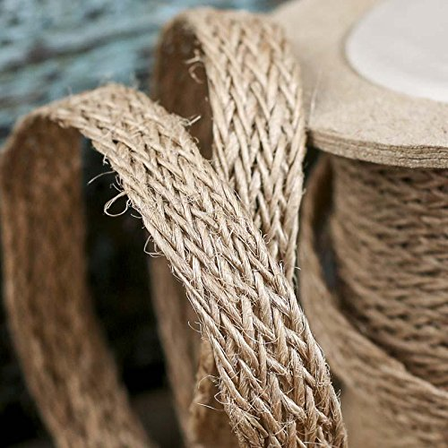 20 Yards of Eco Friendly Braided Jute Ribbon -For Crafting, Designing and (Eco Friendly Ribbon)