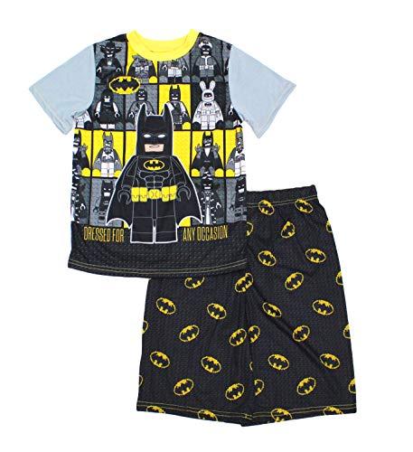 LEGO Boys' Big Movie Be Batman 2-Piece Pajama Short Set (8, Gray)]()
