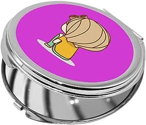 مرآة جيب، بتصميم وقت التفكير، شكل دائري