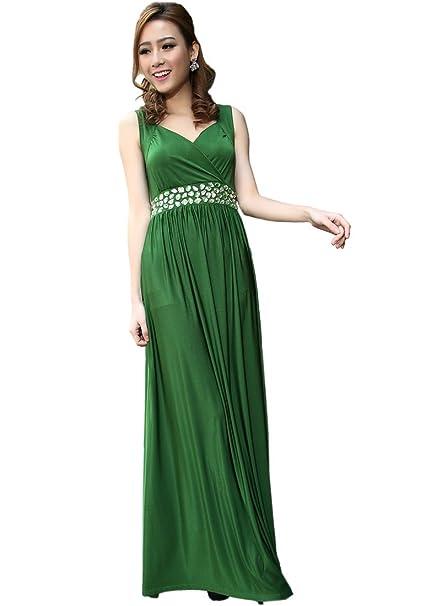 size 40 6a4a2 79667 Medeshe da donna, colore: verde smeraldo con vestito da ...