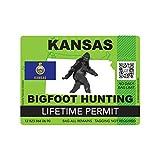 fagraphix Kansas Bigfoot Hunting Permit Sticker Die Cut Decal Sasquatch Lifetime FA Vinyl - 4.00 Wide