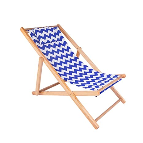 Amazon.com: ZR - Sillas plegables de madera para playa ...