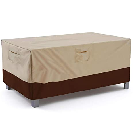 Amazon.com  Vailge Veranda Rectangular/Oval Patio Table Cover Heavy Duty and Waterproof Outdoor Lawn Patio Furniture Covers Large Beige \u0026 Brown  Garden ...  sc 1 st  Amazon.com & Amazon.com : Vailge Veranda Rectangular/Oval Patio Table Cover ...