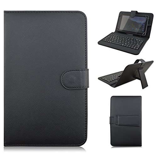 Kimiyoo Samsung Galaxy Tablet Keyboard Case - Universal 8 inch Folding Stand Cover with Micro USB Connector for Samsung Galaxy Tab 4 8.0 SM-T330 T331 T335 T337 T337A Tablet,Black